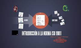 INTRODUCCIÓN A LA NORMA ISO 19011