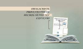 OBLIGACIONES PROVENIENTES DE HECHOS LÍCITOS SIN CONVENIO
