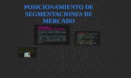 POSICIONAMIENTO DE SEGMENTACIONES DE MERCADO