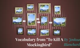 """Vocabulary from """"To Kill A Mockingbird"""""""