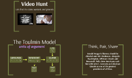 The Toulmin Model - First Triad