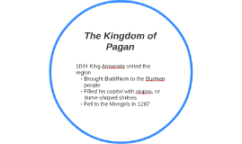 The Kingdom of Pagan