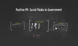 Positive PR: Social Media in Government