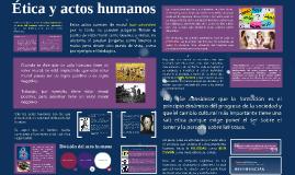 Ética y actos humanos