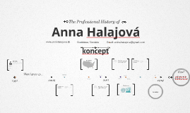 Timeline Prezumé by Anna Halajová