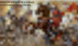 LÍNEA DE TIEMPO DE LA EDAD CONTEMPORÁNEA Y MEDIA