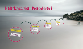 Nederlands, klas 1 Presenteren I