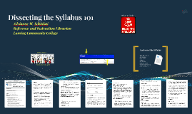 Dissecting the LCC Syllabus