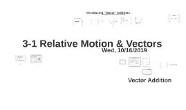 L3-1 Relative Motion and Vectors
