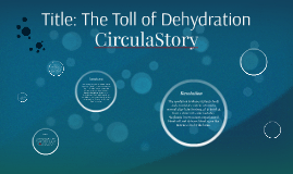 The Toll of Dehydration