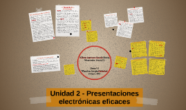 Unidad 2 - Presentaciones electrónicas eficaces
