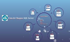 Lista de Chequeo SQL Server