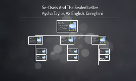 Se-Osiris And The Sealed Letter