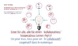kollaboratives/kooperatives Lernen digital