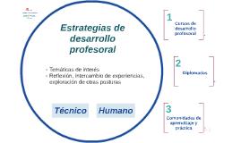 Estrategias de desarrollo profesoral