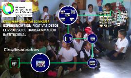 EXPERIENCIA SIGNIFICATIVAS DESDE EL PROCESO DE TRANSFORMACIÓ