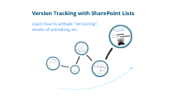 Version Tracking with SharePoint Lists