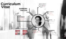 Curriculum Vitae - Barbora Fricova