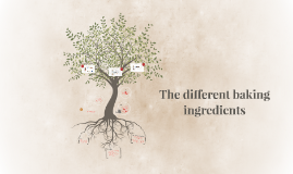 The different baking ingredients