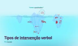 Tipos de intervenção verbal