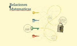 Relaciones Matematicas