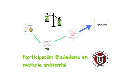Participación Ciudadana en materia ambiental