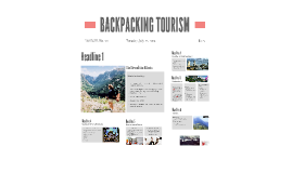 BACKPACKING TOURISM
