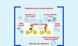 Nutrition sportive - bien manger avant, pendant et après l'effort!