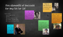 RA Elements for Success