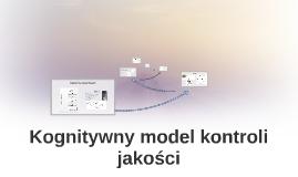 Kognitywny model kontroli jakości