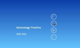 Seismology Timeline