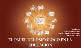 EL PAPEL DEL PSICÓLOGO EN LA EDUCACIÓN