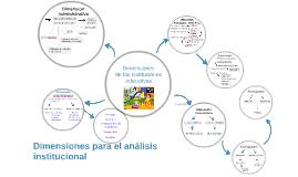 Dimensiones para el análisis institucional