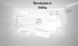 Setting Creative writing