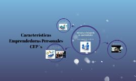 Características Emprendedoras Personales CEP´s