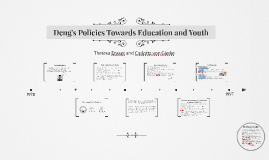 Deng's Policies Towards Education and Youth