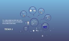 T1. ORGANIZACIÓN DE LAS ACTIVIDADES EN LA UNIDAD O CLÍNICA DENTAL