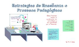 Copy of Estrategias de enseñanza según procesos pedagógicos y cognitivos