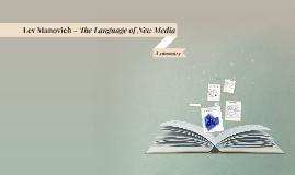 Lev Manovich - The Language of New Media