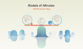 Models of Altruism