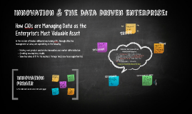 Innovation & The Data Driven Enterprise
