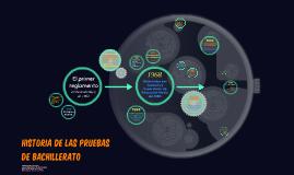 Historia de las pruebas de Bachillerato