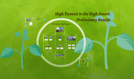 High Tunnels in the High Desert: Preliminary Results