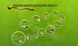 DEPARTAMENTALIZACION BASICA