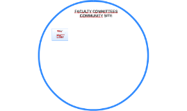 FACULTY COMMITTEES COMMUNITY SITE