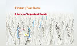 Timeline of New France