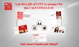 A perfect gift of LOVE to pamper for this VALENTINES DAY