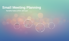 Small Meeting Planning