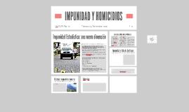 IMPUNIDAD E HOMICIDIOS
