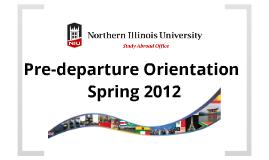 Pre-Departure Orientation Spring 2012